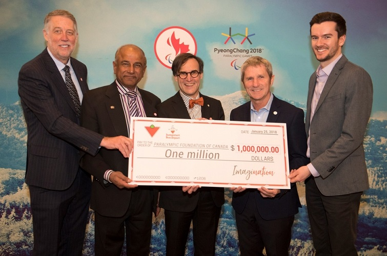 ImagiNation Campaign Raises First $2 Million for Parasport Development in Canada Through Groundbreaking Gifts