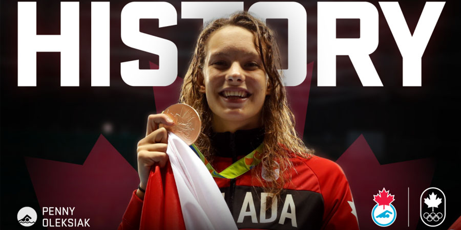 Penny Oleksiak - Gold