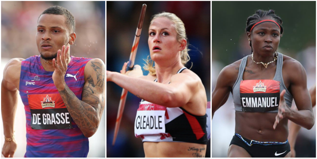 De Grasse, Emmanuel win and Gleadle breaks record on Friday at the Canadian Track and Field Championships