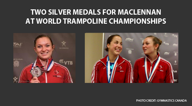 Rosie MacLennan wins silver medal at 2014 world trampoline and tumbling championships