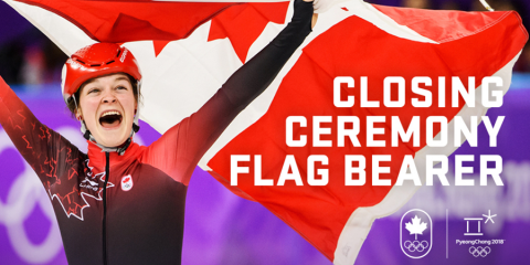 Closing Ceremony flag bearer honours bestowed on Boutin